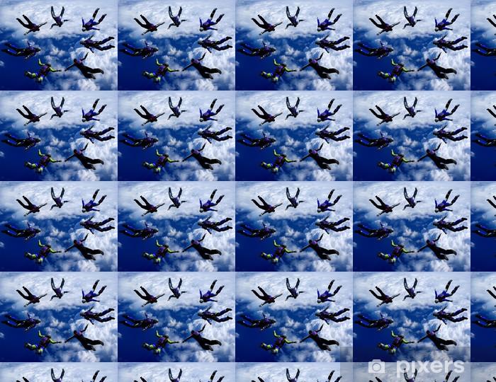 Papier peint vinyle sur mesure Sportifs-parashutist envolée dans le ciel - Sports extrêmes
