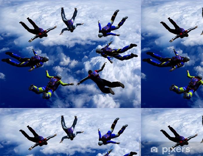 Sportsmen-parashutist soaring in sky Vinyl Wallpaper - Extreme Sports