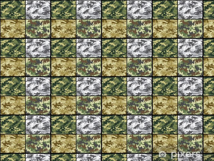 Military camouflage patterns Wallpaper - Vinyl custom-made