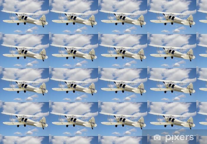 Papier peint vinyle sur mesure Biplan 2 - Dans les airs