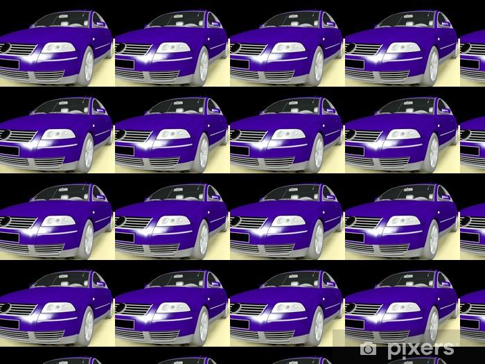 Papier peint vinyle sur mesure Modèle 3D d'une voiture -