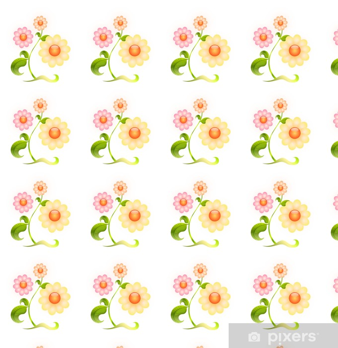flower Vinyl custom-made wallpaper - Flowers