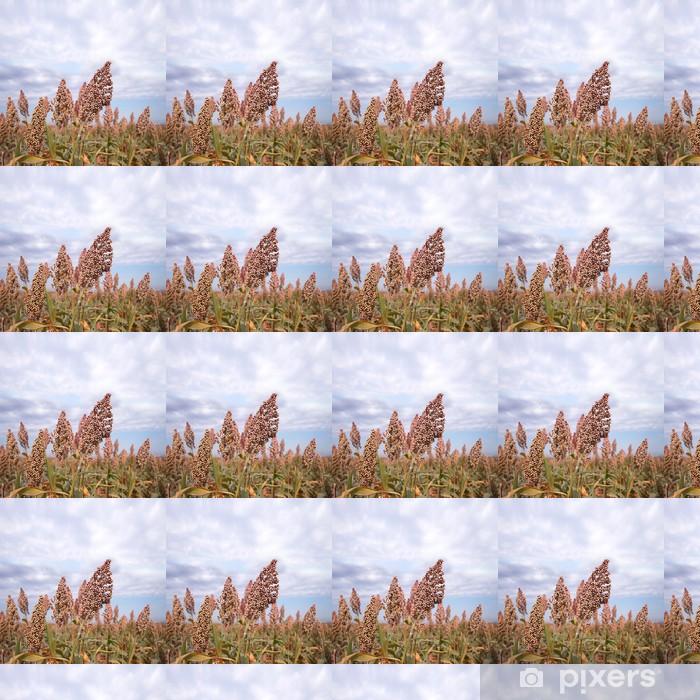 Papier peint vinyle sur mesure Le sorgho à l'automne - Graines