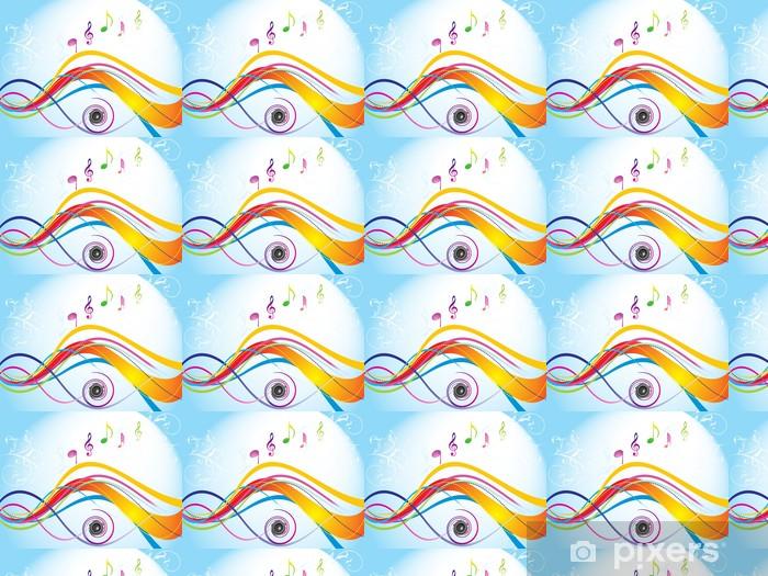 Vinylová tapeta na míru Abstraktní barevné vlny se zvukem - Pozadí