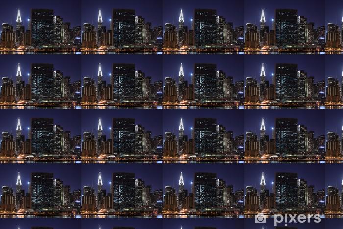 Tapeta na wymiar winylowa New York City Skyline w Night Lights, Midtown Manhattan - Manhattan