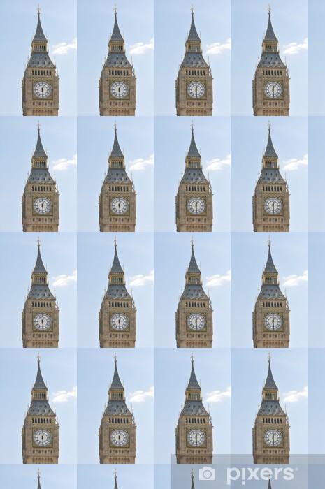 Papier peint vinyle sur mesure Big Ben fleuri tour et horloge visage à Londres Royaume-Uni - Vacances