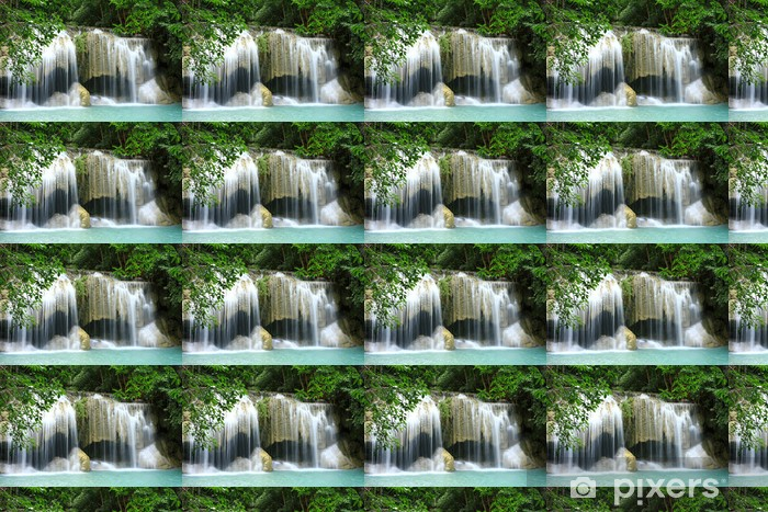 Vinylová tapeta na míru Erawan vodopádu, Thajsko - Asie