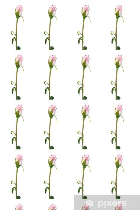 Vinyltapete nach Maß Rosa Rose Knospe über weißem - Blumen
