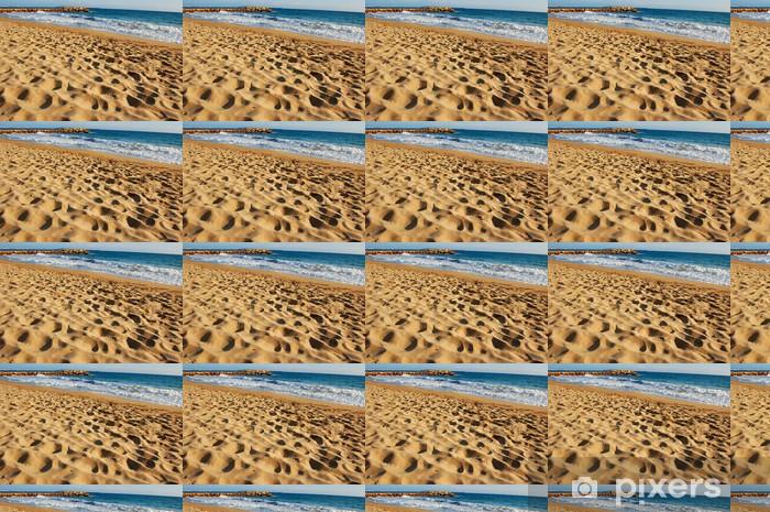 Papier peint vinyle sur mesure Fin sable plage - Eau