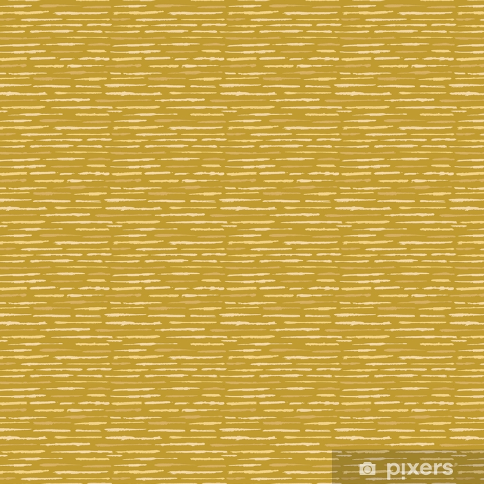Rustic Texture Grunge Stripes Seamless Vector Pattern. Rough Textured Lines Background Illustration for Trendy Home Decor, Fashion Print, Wallpaper, Textile. Natural Ecru Mustard Yellow Speckled Vinyl custom-made wallpaper - Graphic Resources