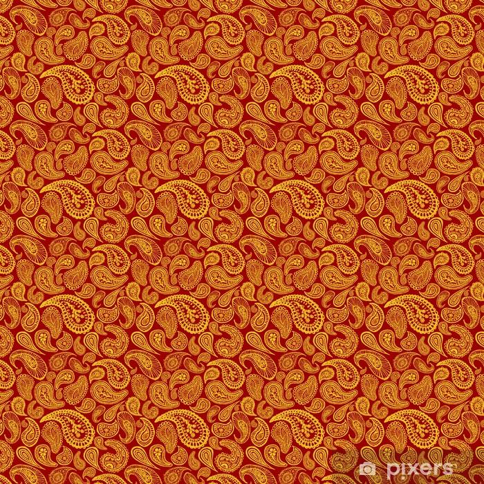 Tapeta na wymiar winylowa Red abstrakcyjne ręcznie rysowane tła bez szwu paisley - Style