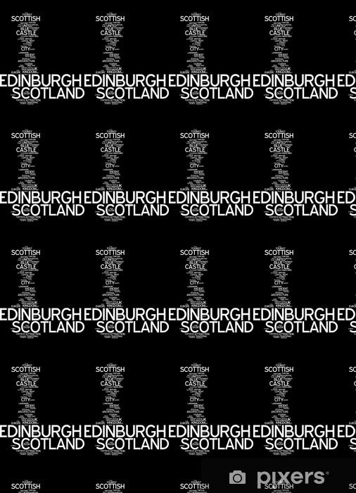 Edinburgh (skotlanti) - typografia Räätälöity vinyylitapetti -