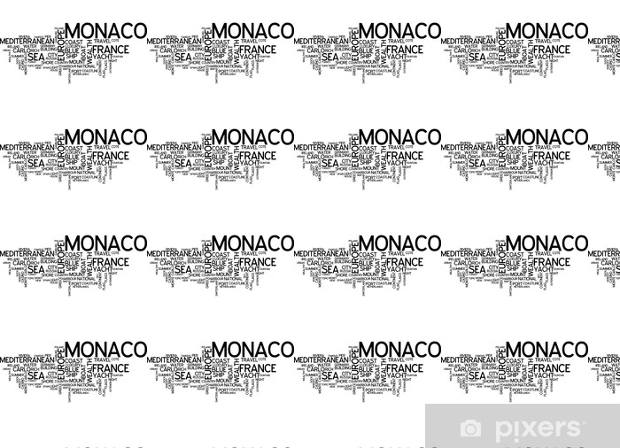 Papier peint vinyle sur mesure Monaco, Monte-Carlo - Europe
