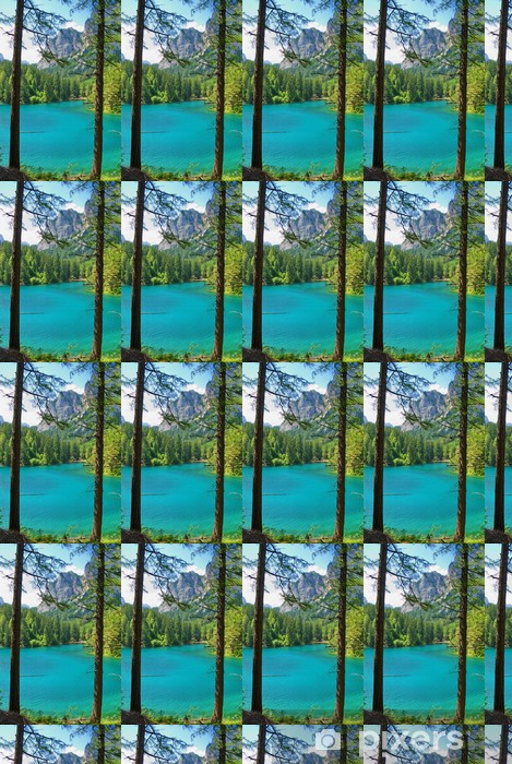 Papier peint vinyle sur mesure Montagnes et lac turquoise-Gruener Voir, Styrie, Autriche - Vacances