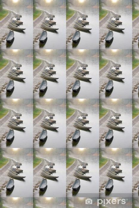 Vinylová tapeta na míru Řadové lodě na břeh řeky - Outdoorové sporty