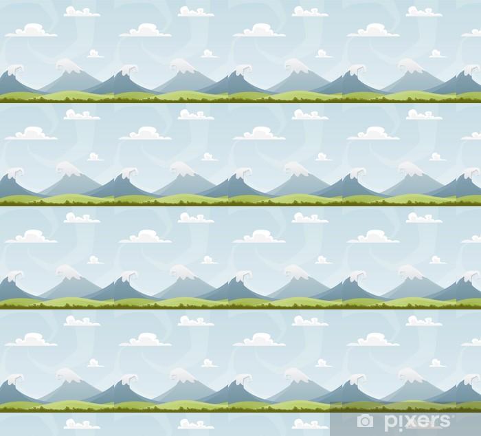 Tapeta na wymiar winylowa Cartoon landscape - Góry