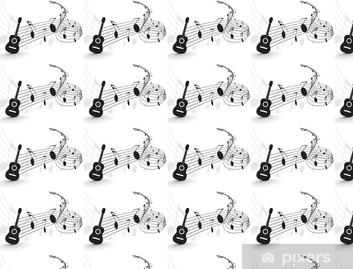 Music Notes Wallpaper Vinyl Custom Made