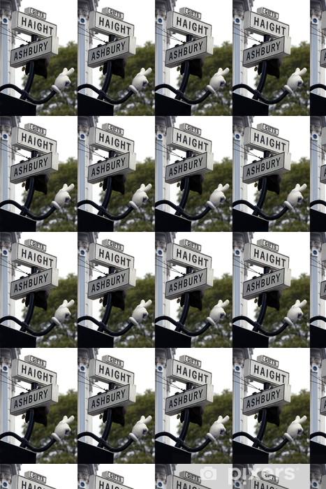 Papier peint vinyle sur mesure Haight rue symbole à San Francisco - Villes américaines