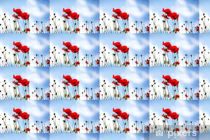 Papier peint vinyle sur mesure Mohnblume Papaver rhoeas - Fleurs