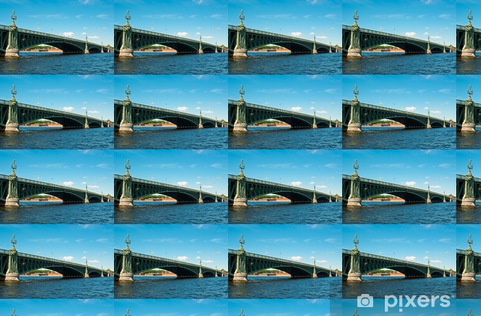 Vinylová tapeta na míru Troitsky most v St-Petersburg, Rusko - Asie
