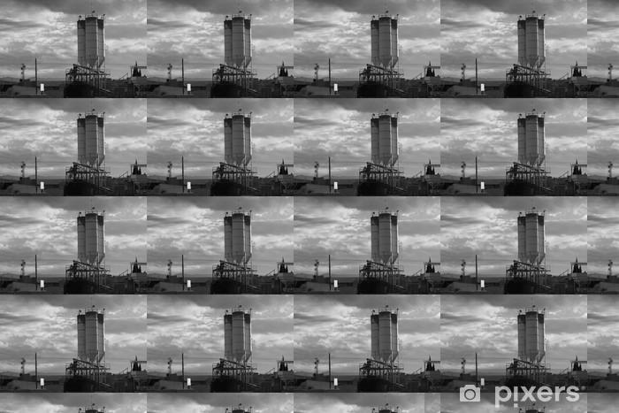 Tapeta na wymiar winylowa Zbiorniki cementowe - Budynki przemysłowe i handlowe