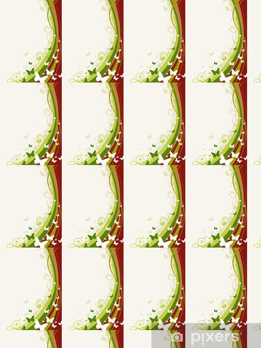 Papier peint vinyle sur mesure Décorations en fleur au fond - Thèmes