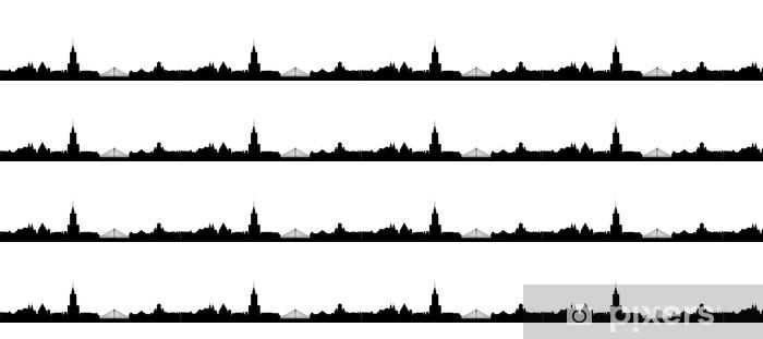 Vinylová tapeta na míru Varšava Skyline - Nálepka na stěny