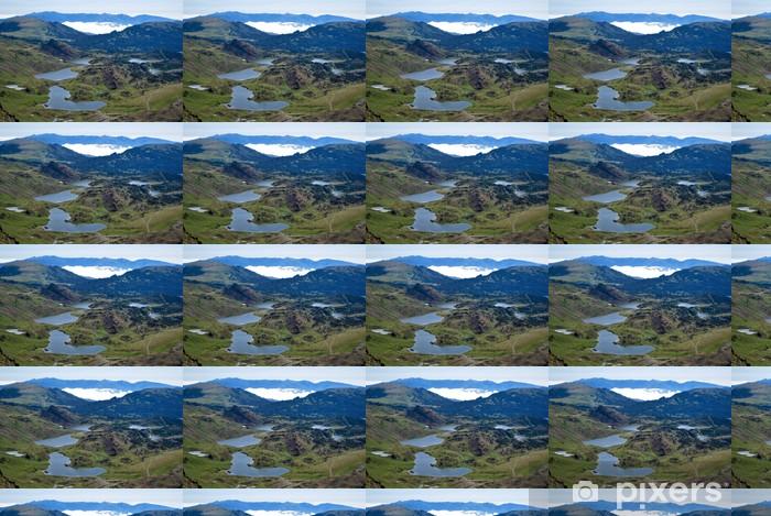 Papier peint vinyle sur mesure Les lacs des Bouillouses - Sports d'extérieur