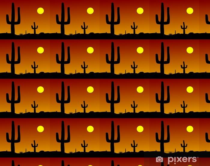 Vinyl behang, op maat gemaakt Kaktus Wüste - Amerika