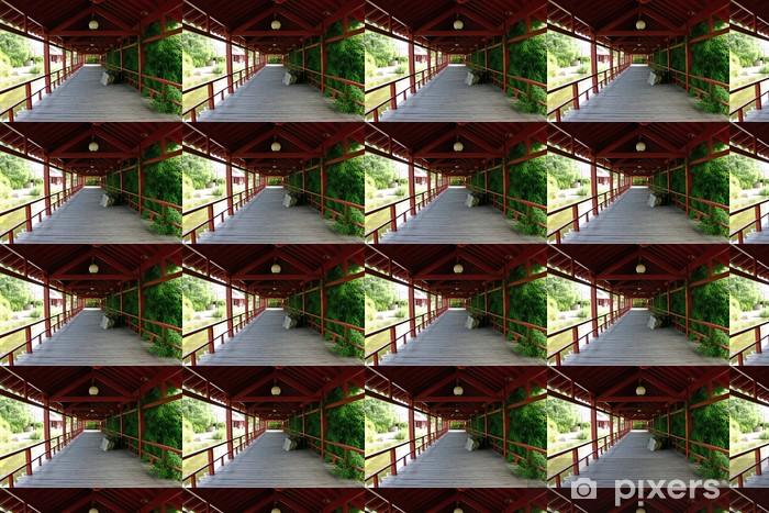 Papier peint vinyle sur mesure Jardin japonais - Bâtiments publics