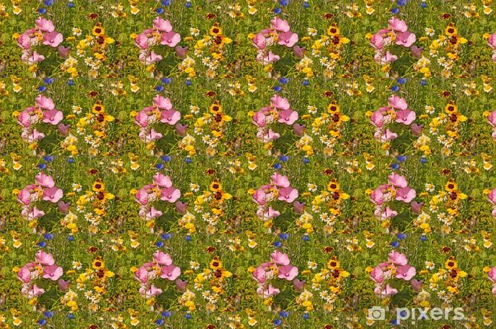 Papier peint vinyle sur mesure Bunte Blumenwiese - Fleurs