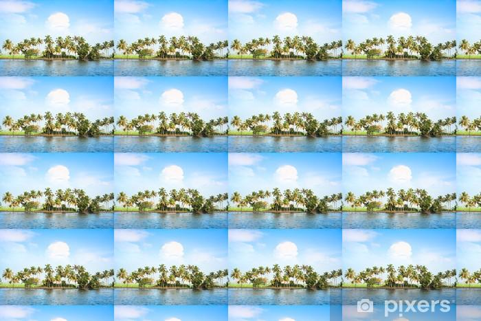 Papel pintado estándar a medida Coconut árboles a lo largo de los remansos, la India. - Asia