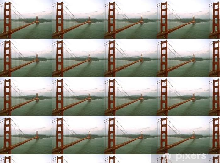 Tapeta na wymiar winylowa Golden Gate Bridge na zmierzchu - Infrastruktura