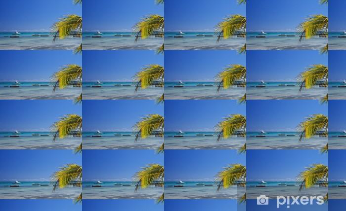 Vinylová tapeta na míru Skyline modrá laguna na pláži Bain Beauf - Afrika