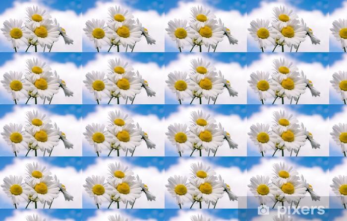 Vinyltapete nach Maß Kamille Blumen auf weites Feld - Blumen