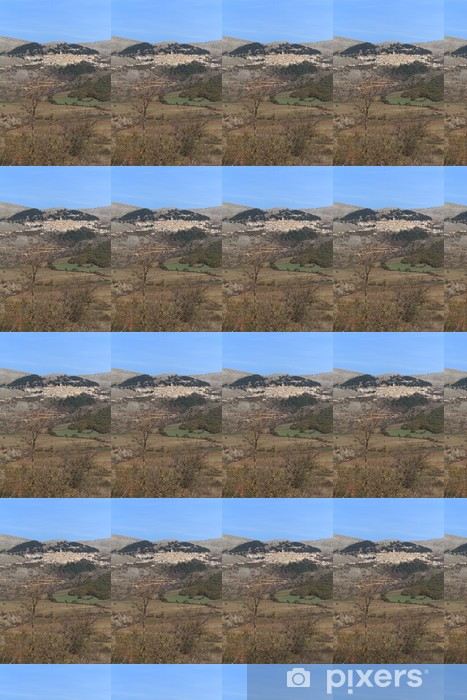 Vinylová tapeta na míru Panorama di Castel del Monte (aq) - Evropa