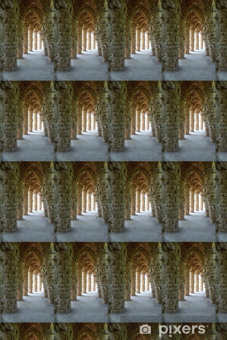 Columns and arches at park Guell, Barcelona, Spain Vinyl custom-made wallpaper - European Cities