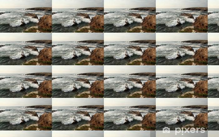 Vinylová tapeta na míru Wild Coast ve městě Quiberon, Bretaň, Francie - Voda