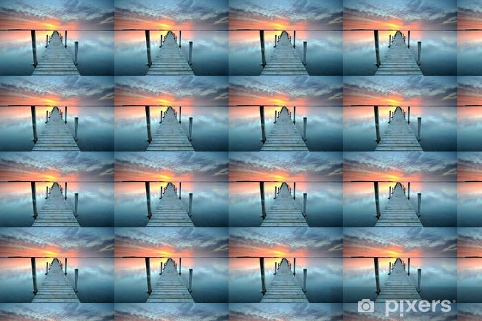 Papier peint vinyle sur mesure Coucher du soleil - Thèmes