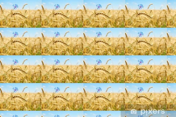 Vinylová tapeta na míru Uši pšenice s květinami - Semena