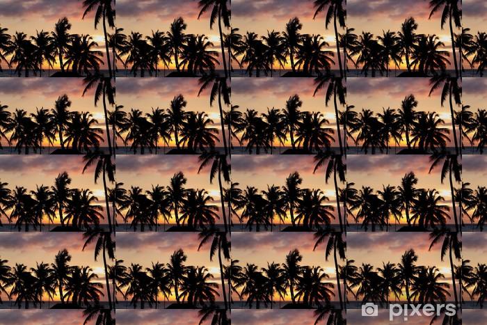 Vinylová tapeta na míru Palme al tramonto - Nebe