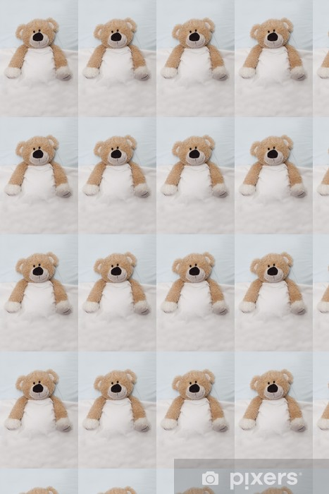 Vinyl behang, op maat gemaakt Teddy Bear tot in bed - Spellen