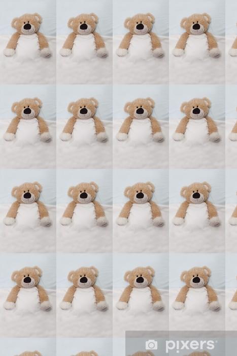 Papier peint vinyle sur mesure Ours en peluche portant dans son lit - Jeux