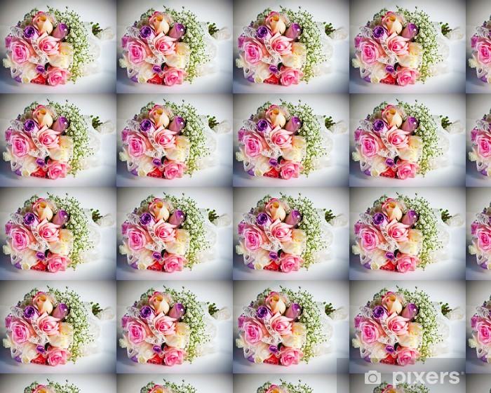 Papier peint vinyle sur mesure Le bouquet de mariage de la mariée - Fleurs