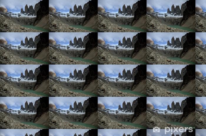 Carta da parati in vinile su misura Torres del Paine, Cile - America