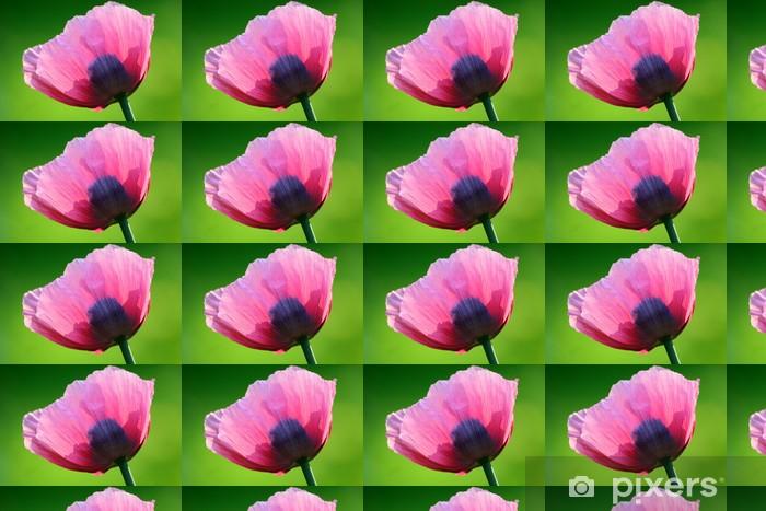 Vinyltapete nach Maß Rosa Mohn II - Blumen