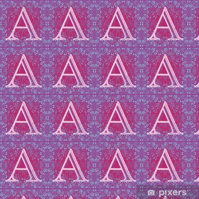 Vinylová tapeta na míru Letra rosa decorada - Témata