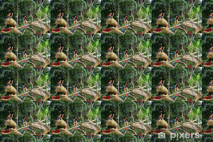 Tapeta na wymiar winylowa Papugi w lasach deszczowych. - Wakacje