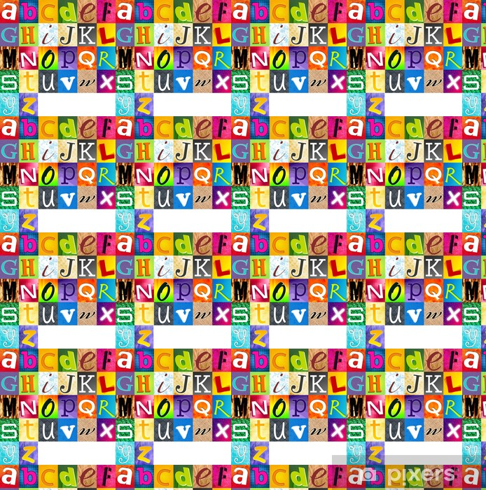 Vinylová tapeta na míru Vícebarevná Abeceda - Témata