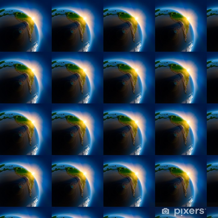 Vinyltapete nach Maß Sonnenaufgang über der Erde im Weltraum - Erde